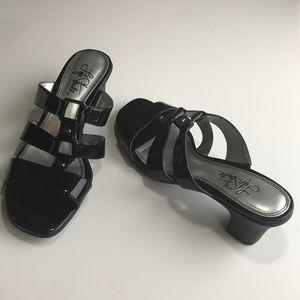 Life Stride 7 M sandals black patent comfort